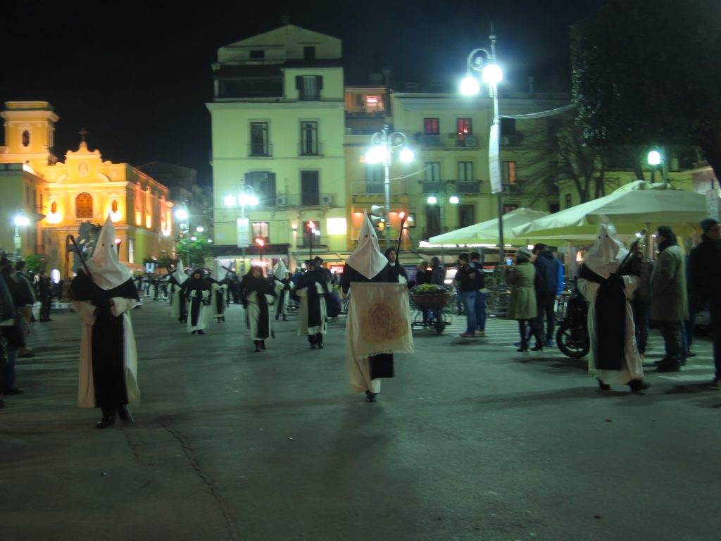 Sorrento's Thursday procession - creepy or what.