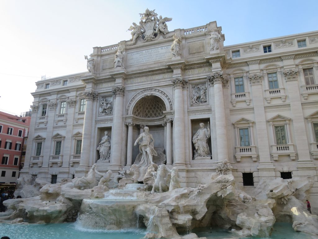 The iconic Trevi Fountain.