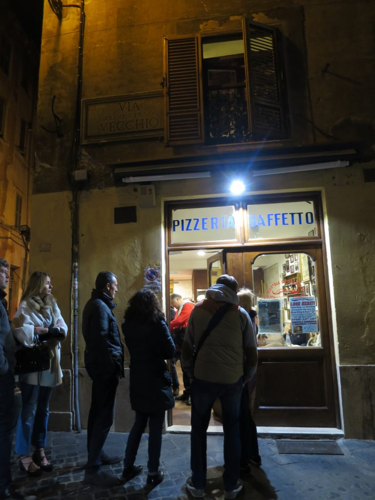 Pizzera Baffetti - there's always a queue for its superb Romano pizza.