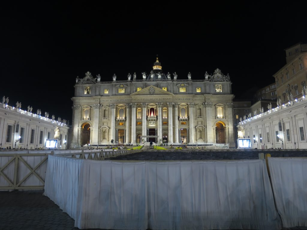 St Peter's Square the night before Easter.