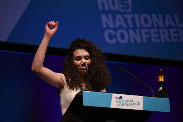 Malia Bouattia won the NUS presidential election. Photo by Will Bunce.