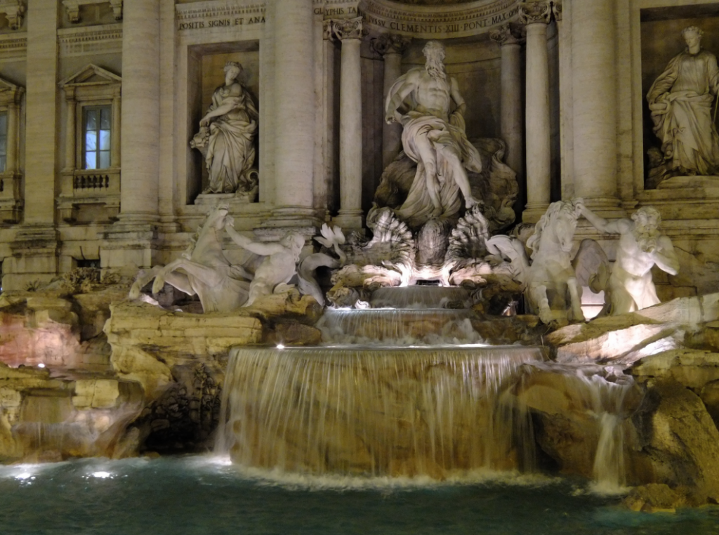 The Trevi Fountain by Night (Image: AHLN via Flickr)