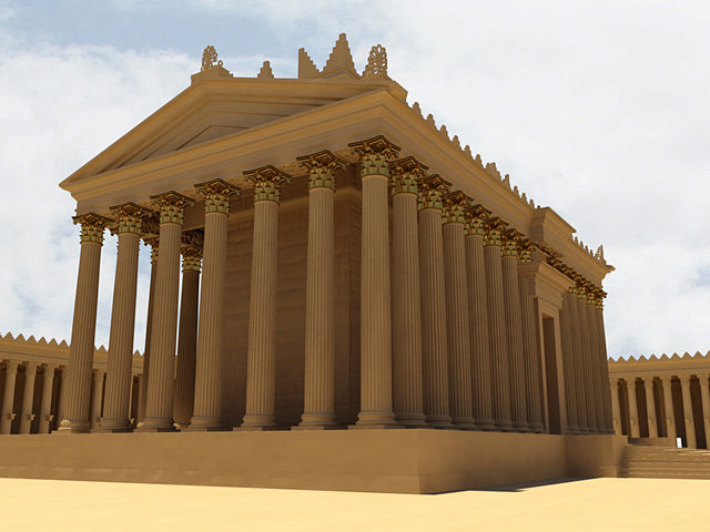 A digital reconstruction of the Temple of Bel from the New Palmyra project.