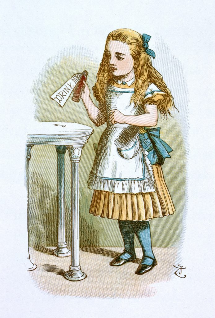 A colour illustration of Alice by John Tenniel © The British Library Board