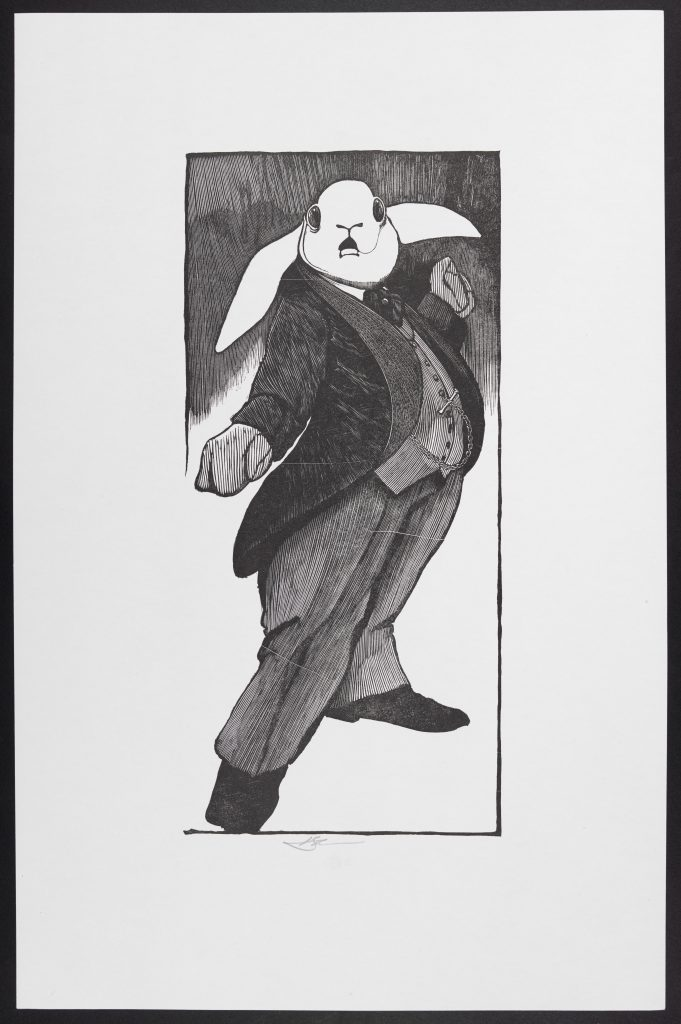 Barry Moser's White Rabbit. Courtesy of R. Michelson Galleries