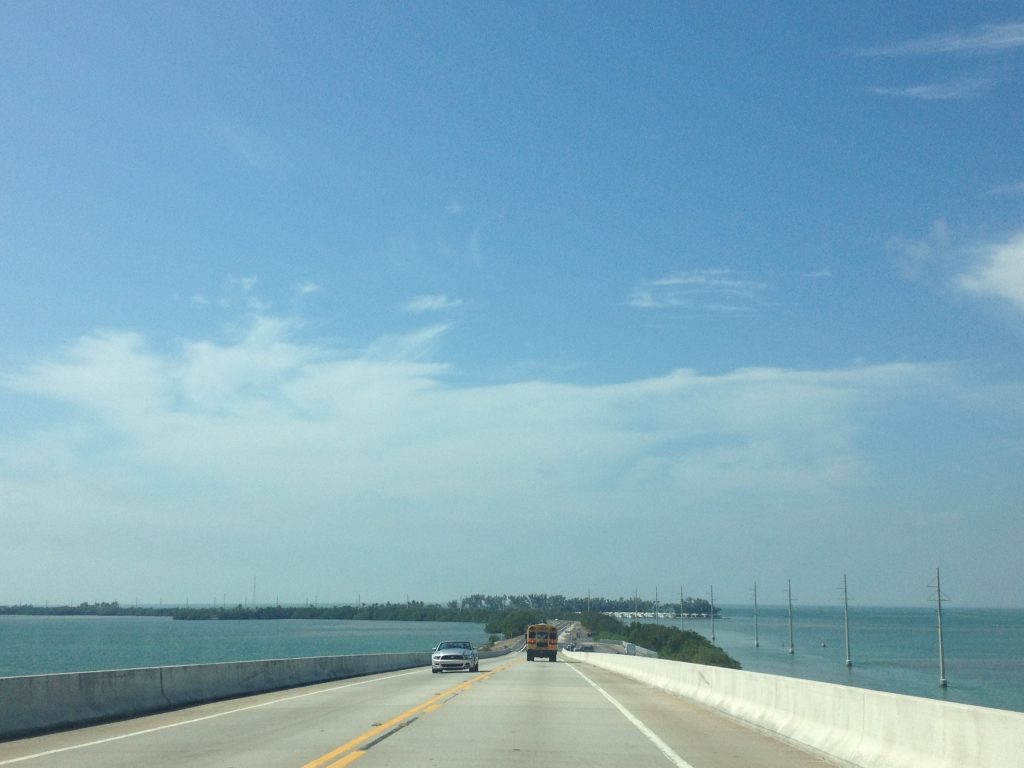 Florida's ocean highway, on our way to Key West.
