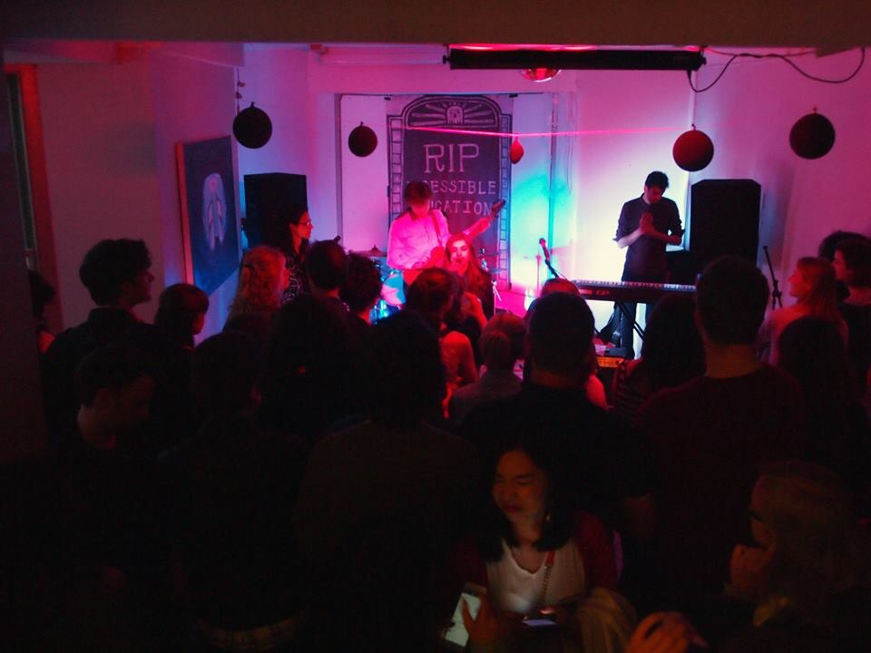 The In Memoriam gig attracted over a hundred people to Empty Shop on Sunday