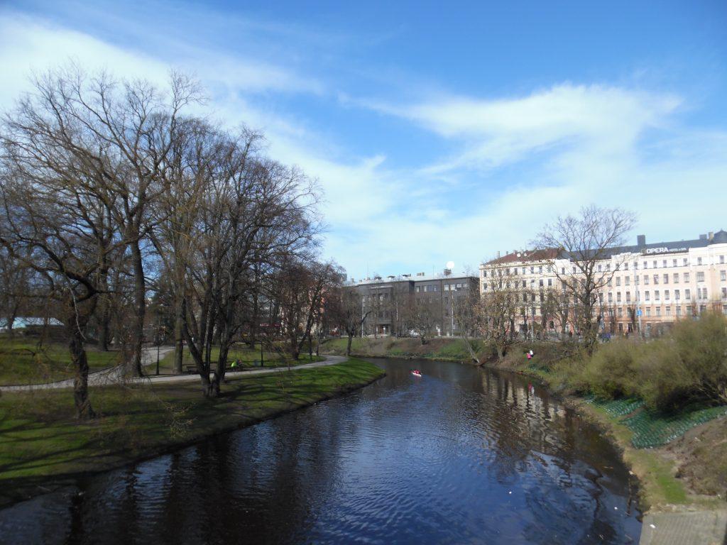 The Daugava River runs through the centre of Riga.
