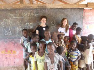 Teaching class in Ghana