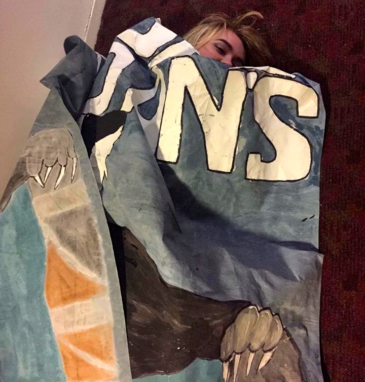 College artwork does not make an appropriate blanket