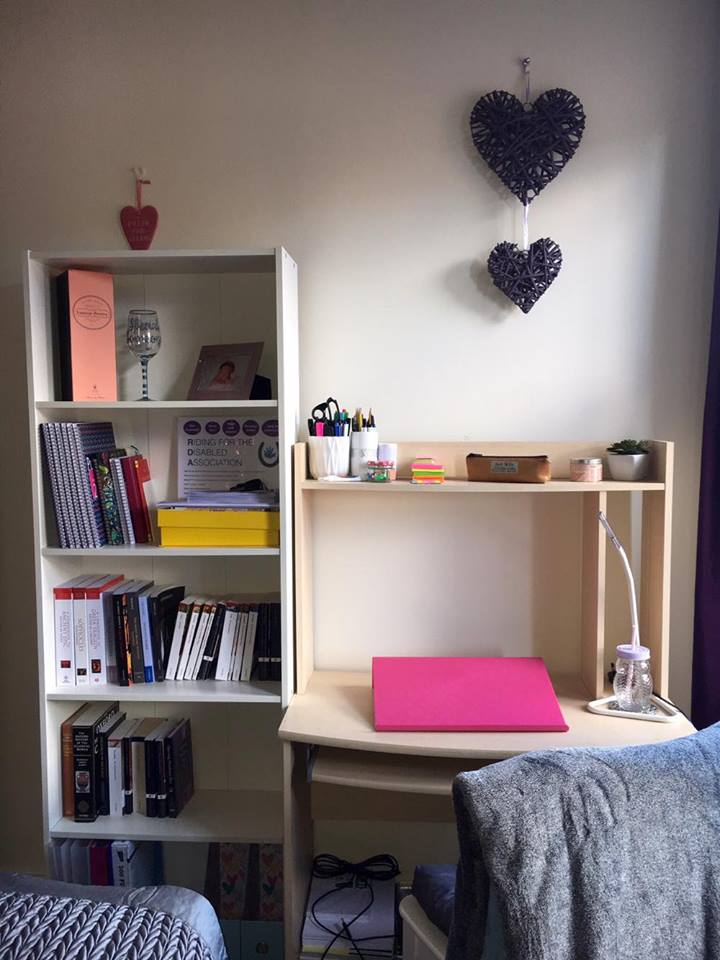 Make room for books and work