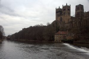 Durham Cathedral towers over the city skyline
