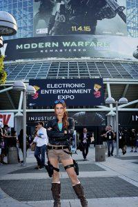 Actress/Model Tatiana DeKhytar as Lara Croft