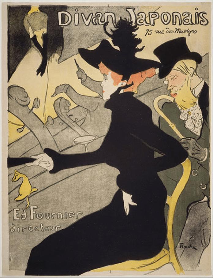 'Divan Japonais',Henri de Toulouse Lautrec, 1892-93. Wikimedia Commons