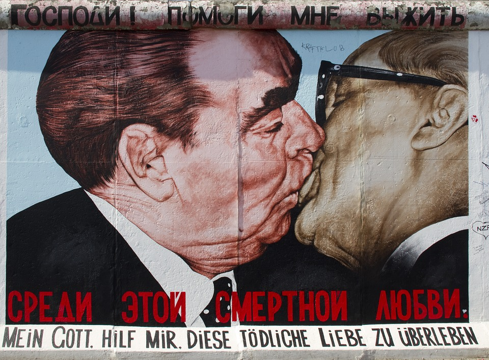 Fraternal Kiss- Leonid Brezhnev and Erick Honecker. 'My God, Help Me to Survive This Deadly Love'.