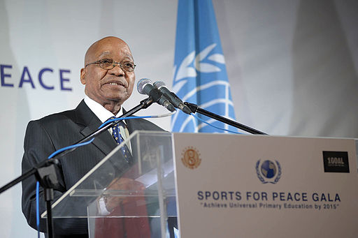 Mr. Jacob Zuma at the Sports for Peace Gala 2010 in Johannesburg.