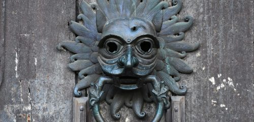 Close-Up of Durham Cathedral Sanctuary Knocker