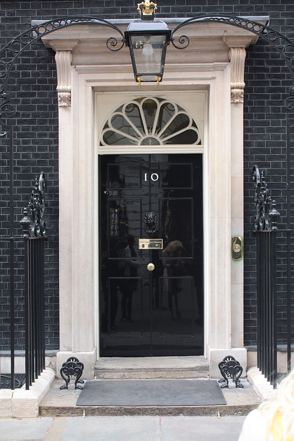 The door to Number 10 Downing Street